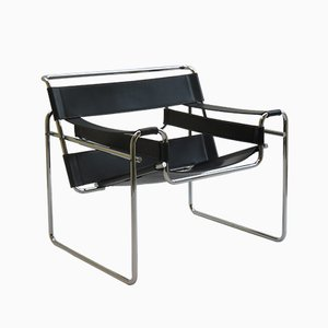 Chrome and Leather Wassily B3 Armchair by Marcel Breuer for Gavina, 1960s