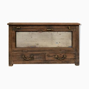 Wooden Cabinet with 2 Drawers, 1940s