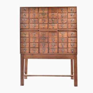 Apothecary Bank of 48 Drawers, 1940s