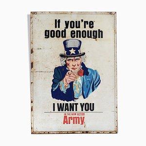 Amerikanisches emailliertes Armeeschild, 1940er