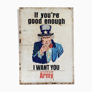 Señal del ejército estadounidense esmaltada, años 40