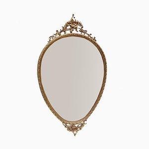 Vintage Spiegel mit Messingrahmen