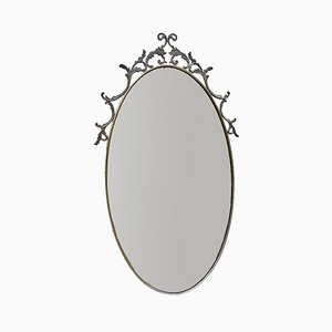 Oval Vintage Brass Mirror