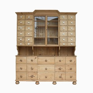Antique Softwood Pharmacist Cabinet
