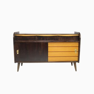 Vintage Bicolor Sideboard with Compass Feet
