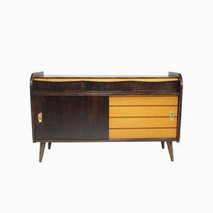 Zweifarbiges Vintage Sideboard mit Kompassfüßen