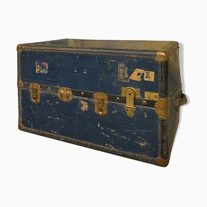 Blue Travel Trunk, 1930s