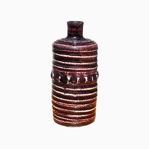 Glasierte Mid-Century Flaschenvase aus Keramik von Accolay, 1950er