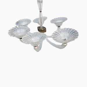 Lámpara de araña de Barovier & Toso, años 40