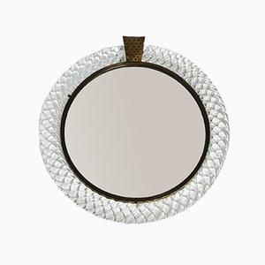 Specchio da parete in vetro di Murano di Barovier & Toso, anni '60
