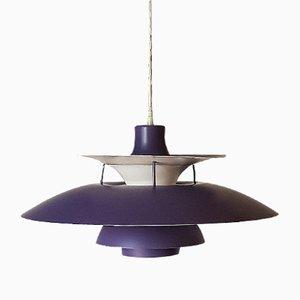 Lampe à Suspension PH5 Violette par Poul Henningsen pour Louis Poulsen, 1960s