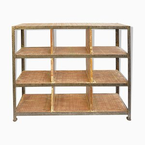 Vintage Industrial Shelving Unit, 1940s