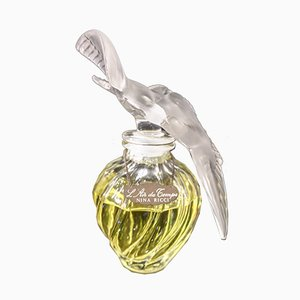 Large Blown Glass Perfume Bottle by René Lalique, 1960s