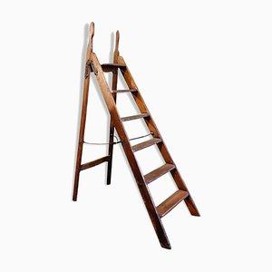 Escalera inglesa de madera, años 40