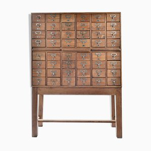 Vintage Pharmacist Cabinet with 48 Drawers, 1940s