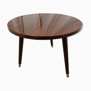 Vintage Lacquered Walnut Veneer Side Table