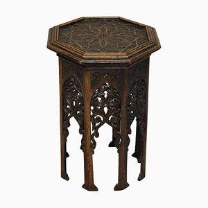 Antiker Beistelltisch aus Holz, 1890er