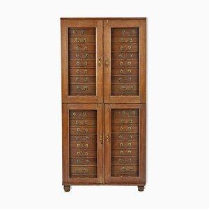 Mueble de madera y vidrio, años 40