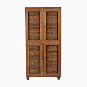 Wood & Glass Cabinet, 1940s