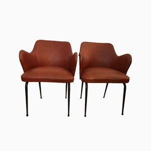 Vintage Leather Armchairs, Set of 2