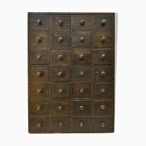 Mueble de taller con 28 cajones, años 40