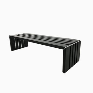 Mid-Century Slatted Bench by Walter Antonis for 't Spectrum, 1970s