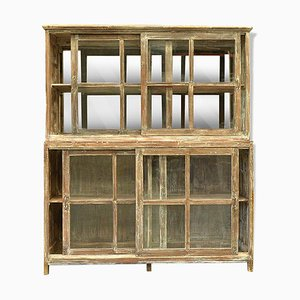 Wood & Glass Display Cabinet, 1940s