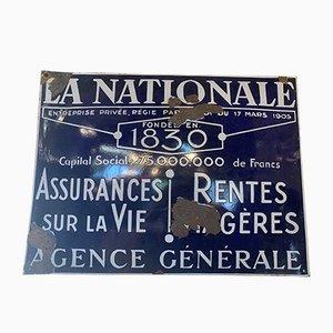 Emailliertes La Nationale Schild, 1960er
