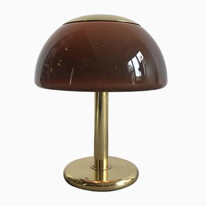 Vintage German Brass Mushroom Table Lamp from Cosack, 1970s