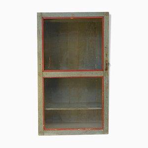 Mueble de pared vintage de madera, años 40