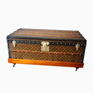 Vintage Stenciled Monogram Cabin Steamer Trunk from Louis Vuitton, 1930s