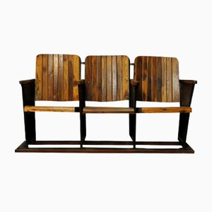 Cinema 3-Seater Bench, 1940s