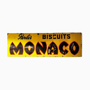 Enamel Parle's Monaco Biscuits Sign, 1940s