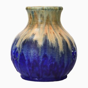 Glasvase mit Tropfglasur von Ruskin Pottery, 1930er