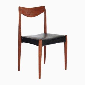 Bambi Schreibtischstuhl aus Leder & Teak von Rolf Rastad & Adolf Relling für Gustav Bahus, 1960er