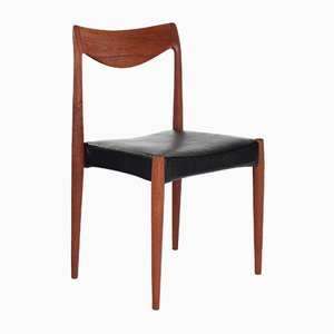 Leather & Teak Bambi Desk Chair by Rolf Rastad & Adolf Relling for Gustav Bahus, 1960s