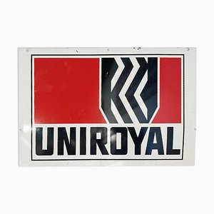 Cartel esmaltado de Uniroyal, años 40