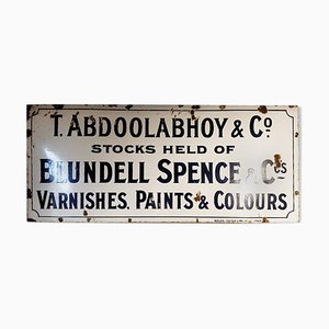 Enamel Sign from T. Abdoolabhoy & Co, 1940s