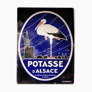 Cartel Potasse d'Alsace esmaltado, años 40