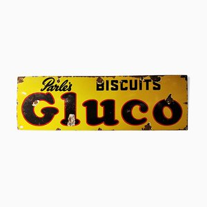 Enamel Parle's Gluco Biscuits Sign, 1940s