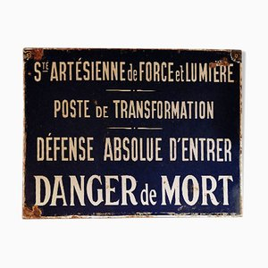 Société Artesienne de Force et Lumière Emailleschild, 1940er