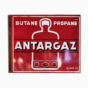 Enamel Antargaz Sign, 1940s