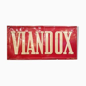 Enamel Viandox Sign, 1930s