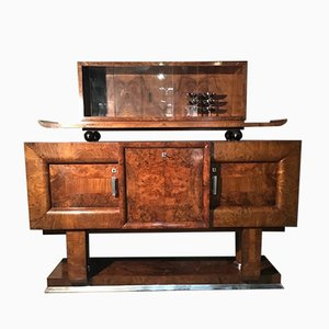 Art Deco Style American Walnut Sideboards, 1940s, Set of 2