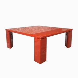Italian Lacquered Wood Ming Coffee Table by Kazuhide Takahama for Cassina, 1970s
