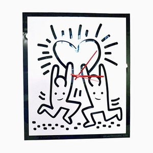 Keith Haring Hommage Wall Clock by Cleto Munari, 2000s