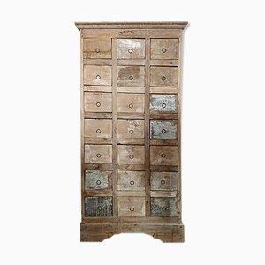 Mueble de mercería de teca, años 40