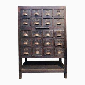 Mueble de mercería de madera, años 40