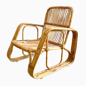 Rattan Armchair by Bonacina for Vittorio Bonacina, 1960s