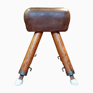 Vintage Leather Pommel Horse, 1940s